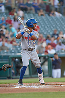 Amarillo Sod Poodles Ivan Castillo (2) bats during a Texas League game against the Frisco RoughRiders on May 16, 2019 at Dr Pepper Ballpark in Frisco, Texas.  (Mike Augustin/Four Seam Images)