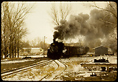 4D&amp;RGW #492 K-37 approaching switch and siding.<br /> D&amp;RGW  Alamosa ?,