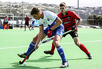 Canterbury v Auckland Men during the National Hockey League, Day One action, National Hockey Stadium, Wellington, New Zealand. Saturday 15 September 2018. Photo: Simon Watts/www.bwmedia.co.nz/Hockey NZ