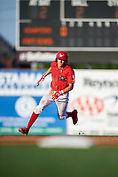 Williamsport Crosscutters shortstop Nick Maton (6) runs the bases during a game against the Mahoning Valley Scrappers on July 8, 2017 at BB&T Ballpark at Historic Bowman Field in Williamsport, Pennsylvania.  Williamsport defeated Mahoning Valley 6-1.  (Mike Janes/Four Seam Images)