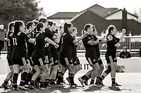 The Black Ferns peform a haka before the 2017 International Women's Rugby Series rugby match between the NZ Black Ferns and Australia Wallaroos at Rugby Park in Christchurch, New Zealand on Tuesday, 13 June 2017. Photo: Dave Lintott / lintottphoto.co.nz
