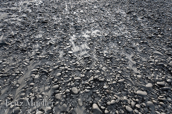 Sand and rocks along the Taku River, Northern B.C.