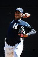 Feb 23, 2010; Tampa, FL, USA; New York Yankees  pitcher Ivan Nova (75) during  team workout at George M. Steinbrenner Field. Mandatory Credit: Tomasso De Rosa