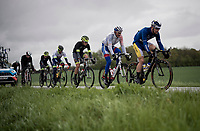 the early breakaway group<br /> <br /> 105th Liège-Bastogne-Liège 2019 (1.UWT)<br /> One day race from Liège to Liège (256km)<br /> <br /> ©kramon