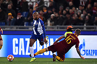 Yacine Brahimi of Porto , Daniele De Rossi of AS Roma <br /> Roma 12-2-2019 Stadio Olimpico Football Champions League 2018/2019 round of 16 1st leg AS Roma - Porto  <br /> Foto Andrea Staccioli / Insidefoto
