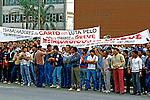 Greve de operários metalúrgicos em São Paulo. 1985. Foto de Juca Martins.