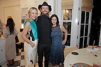 Kerrilynn Pamer, Scott Linde and Cindy DiPrima attend the CAP Beauty + Jenni Kayne Dinner on Nov. 5, 2015 (Photo by Inae Bloom/Guest of a Guest)
