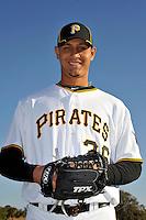Feb 28, 2010; Bradenton, FL, USA; Pittsburgh Pirates  pitcher Wil Ledezma (36) during  photoday at Pirate City. Mandatory Credit: Tomasso De Rosa/ Four Seam Images