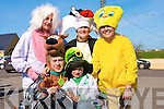 COSTUMES: Derssed up in their Disney Land Costumes in the causeway St Patricks Day Parade were: Maurice O'Sullivan (Ballydesmond) Garry Neenan (Abbeydorney),Sean Sheehan (Causeway), Ann Sl;attery and Joan Ryan (Abbeydorney)..