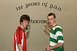 Mark McCullough and Padraic Heslin at the Handball Development Day at the O'Raghallaighs...(Photo credit should read Jenny Matthews www.newsfile.ie)....This Picture has been sent you under the conditions enclosed by:.Newsfile Ltd..The Studio,.Millmount Abbey,.Drogheda,.Co Meath..Ireland..Tel: +353(0)41-9871240.Fax: +353(0)41-9871260.GSM: +353(0)86-2500958.email: pictures@newsfile.ie.www.newsfile.ie.