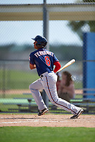Minnesota Twins Jorge Fernandez (8) during a minor league Spring Training intrasquad game on March 15, 2016 at CenturyLink Sports Complex in Fort Myers, Florida.  (Mike Janes/Four Seam Images)
