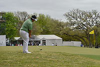 Kiradech Aphibarnrat (THA) chips on to 6 during day 3 of the World Golf Championships, Dell Match Play, Austin Country Club, Austin, Texas. 3/23/2018.<br /> Picture: Golffile | Ken Murray<br /> <br /> <br /> All photo usage must carry mandatory copyright credit (&copy; Golffile | Ken Murray)