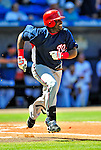 7 March 2009: Washington Nationals' outfielder Leonard Davis in action during a Spring Training game against the New York Mets at Tradition Field in Port St. Lucie, Florida. The Nationals defeated the Mets 7-5 in the Grapefruit League matchup. Mandatory Photo Credit: Ed Wolfstein Photo