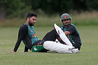 H Ikram and H Afzal of Harold Wood during Gidea Park and Romford CC vs Harold Wood CC, Shepherd Neame Essex League Cricket at Gidea Park Sports Ground on 6th July 2019