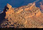 Battleship at Sunrise from Grand Canyon Village, South Rim, Grand Canyon, Arizona