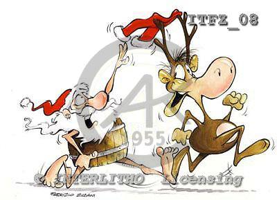 Fabrizio, Comics, CHRISTMAS SANTA, SNOWMAN, paintings, ITFZ08,#x# stickers Weihnachten, Navidad, illustrations, pinturas