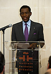 Brussels-Belgium - April 01, 2014 -- Teodoro Obiang Nguema Mbasogo, President of Equatorial Guinea since 1979, following a controversial invitation by Spanish Instituto Cervantes to hold a speech at its Brussels' premises -- Photo: © HorstWagner.eu