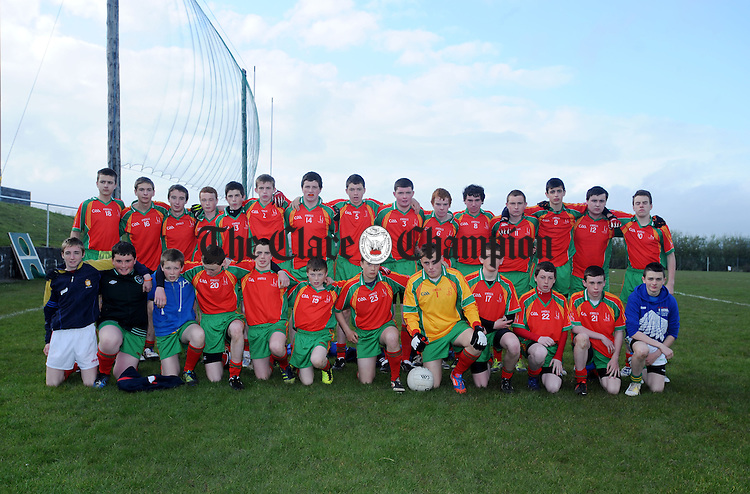 Naomh Eoin-O'Currys, U-16 Division 1 Champions. Photograph by Declan Monaghan