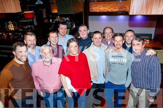 John Mitchells GAA club Mentors night out was held in Gally's, Castlemaine road, Tralee, present were L-R Padraig Corkery, John Diggins, Tony Clifford, Jonathon&Fergus Foley, caroline Harrington. Wayne enright, Declan Connelly, Tim Broderick, John Reidy, eoin O'Callaghan and Rory Kilgallon.
