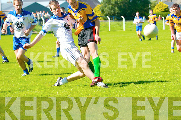 Ballylongford v St. Senans in their County League Division Five clash at Ballylongford on Sunday.