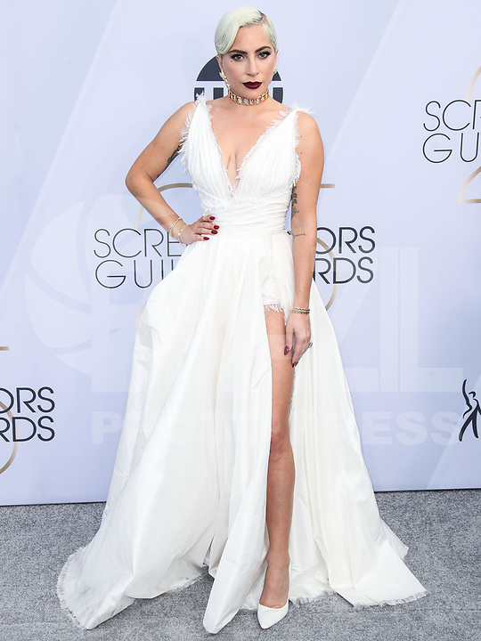 LOS ANGELES, EUA, 27.01.2019 - PREMIAÇÃO-EUA - A atriz e cantora Lady Gaga durante tapete vermelho do 25º Anual Screen Actors Guild Awards, realizada no Shrine Auditorium em Los Angeles nos Estados Unidos na noite de ontem domingo, 27. (Foto: Brazil Photo Press)