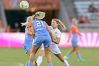Houston, TX - Saturday July 30, 2016: Melissa Henderson, McCall Zerboni during a regular season National Women's Soccer League (NWSL) match between the Houston Dash and the Western New York Flash at BBVA Compass Stadium.