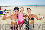 Jenny Dee, Kayla Dee Hussey, Sarah Mia Garcia Leen and Clarisa Garcia enjoying Ballyheigue Beach in the Sunshine.