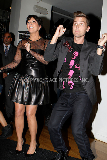 WWW.ACEPIXS.COM....September 11 2012, New York City....Lance Bass and Kris Jenner at the Tumbler And Tipsy By Michael Kuluva spring 2013 fashion show during Style360 at Metropolitan Pavillion on September 11, 2012 in New York City.......By Line: Nancy Rivera/ACE Pictures......ACE Pictures, Inc...tel: 646 769 0430..Email: info@acepixs.com..www.acepixs.com