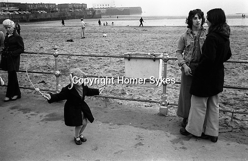 Shrove Tuesday Skipping, Scarborough, Yorkshire, England 1974  My ref 25/717/1974