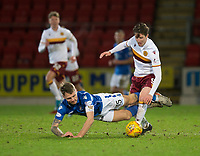 12th February 2020; McDairmid Park, Perth, Perth and Kinross, Scotland; Scottish Premiership Football, St Johnstone versus Motherwell; Jason Kerr of St Johnstone is fouled by Chris Long of Motherwell