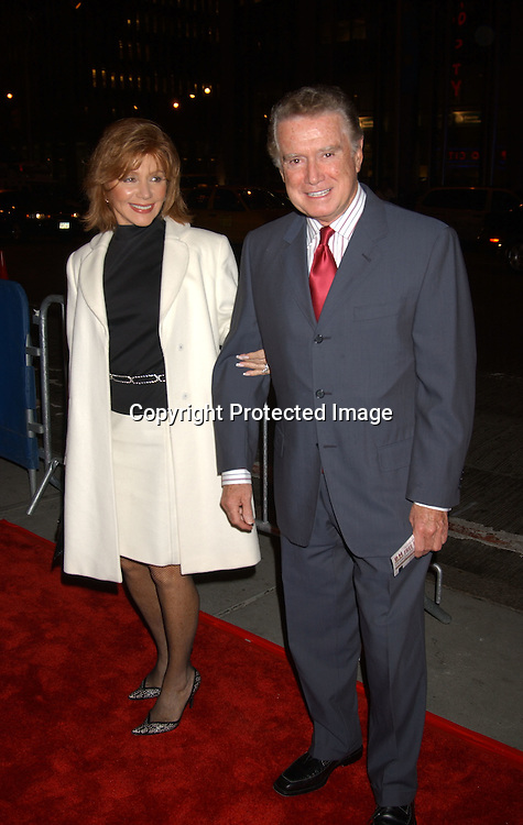 ..Joy and Regis Philbin..at  Sinatra: His Voice, His World , His Way, Gala opening night at Radio City Music Hall on October 14, 2003 in New York City. Photo by Robin Platzer, Twin Images