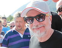 Aurelio De Laurentis<br /> ritiro precampionato Napoli Calcio a  Dimaro 27Luglio 2015<br /> <br /> Preseason summer training of Italy soccer team  SSC Napoli  in Dimaro Italy July 11, 2015