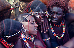 Maasai Moran at their initiation into manhood.<br />