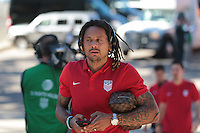 San Diego, CA - Sunday January 29, 2017: Jermaine Jones  prior to an international friendly between the men's national teams of the United States (USA) and Serbia (SRB) at Qualcomm Stadium.