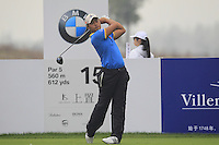 Cao Yi (CHN) tees off the 15th tee during Friday's Round 2 of the 2014 BMW Masters held at Lake Malaren, Shanghai, China 31st October 2014.<br /> Picture: Eoin Clarke www.golffile.ie
