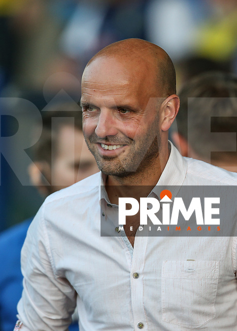 Exeter City Manager Paul Tisdale names himself on the bench but comes out dressed in a shirt during the The Checkatrade Trophy match between Oxford United and Exeter City at the Kassam Stadium, Oxford, England on 30 August 2016. Photo by Andy Rowland / PRiME Media Images.