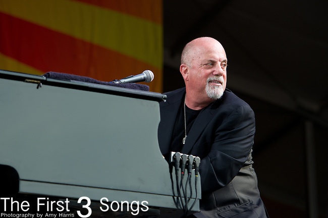 Billy Joel performs during the New Orleans Jazz & Heritage Festival in New Orleans, LA.