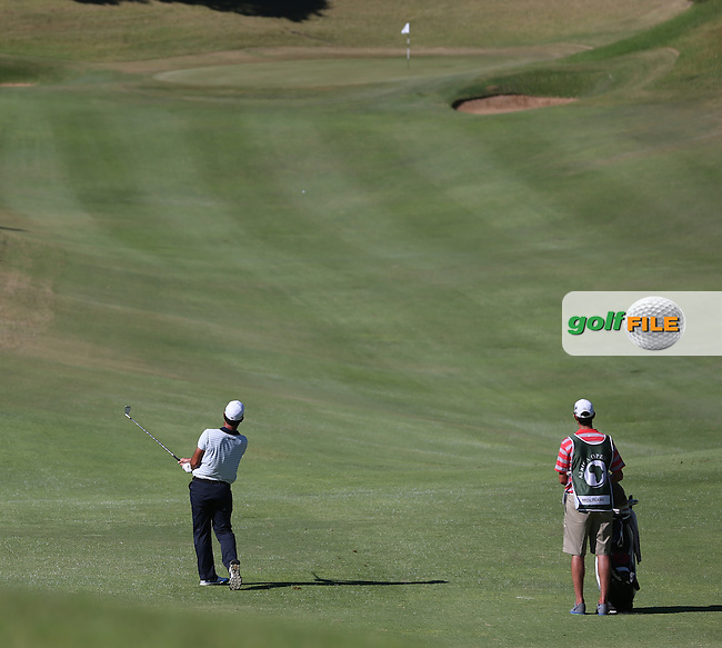 Edouardo Molinari (ITA) plays second shot to the 9th during Round Three of the Africa Open 2015 at the East London Golf Club, East London, Eastern Cape, South Africa. Picture:  David Lloyd / www.golffile.ie. 07/03/2015