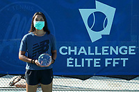 25th July 2020, Villeneuve-Loubet , France;  Winner Harmony Tan France with the trophy after the Elite FFT Tennis Challenge tournament;