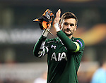 Tottenham's Hugo Lloris applauds the fans at the final wihstle during the Europa League match at White Hart Lane Stadium.  Photo credit should read: David Klein/Sportimage