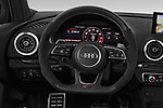 Car pictures of steering wheel view of a 2018 Audi RS-3 4WD 4 Door Sedan Steering Wheel