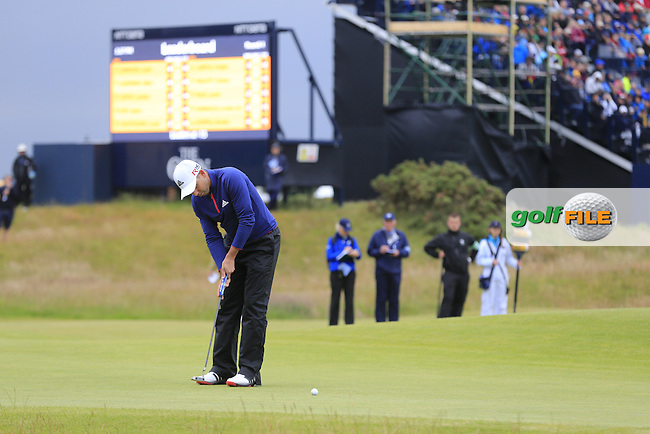 Sergio Garcia (ESP) putts on the 17th green during Monday's Final Round of the 144th Open Championship, St Andrews Old Course, St Andrews, Fife, Scotland. 20/07/2015.<br /> Picture Eoin Clarke, www.golffile.ie