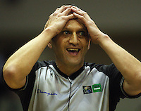 Umpire Gavin Whiu during the International basketball match between the NZ Tall Blacks and Australian Boomers at TSB Bank Arena, Wellington, New Zealand on 25 August 2009. Photo: Dave Lintott / lintottphoto.co.nz