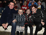 John, Brandon, Carter and Suzanne Dillon watching the fireworks in St.Mary's GFC Ardee. Photo:Colin Bell/pressphotos.ie