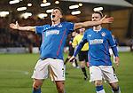 Fraser Aird celebrates after scoring the opener for Rangers