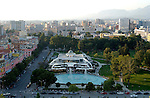 Tirana/Tirane-Albania - August 01, 2004---Partial view of Tirana, capital city of Albania, from the center towards North; infrastructure---Photo: Horst Wagner/eup-images