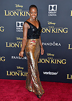 "LOS ANGELES, USA. July 10, 2019: Florence Kasumba at the world premiere of Disney's ""The Lion King"" at the Dolby Theatre.<br /> Picture: Paul Smith/Featureflash"