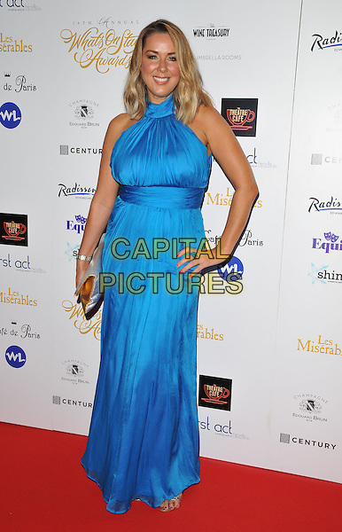 Claire Sweeney attends the Whatsonstage.com Awards Concert 2016, Prince of Wales Theatre, Coventry Street, London, UK, on Sunday 21 February 2016.<br /> CAP/CAN<br /> &copy;CAN/Capital Pictures