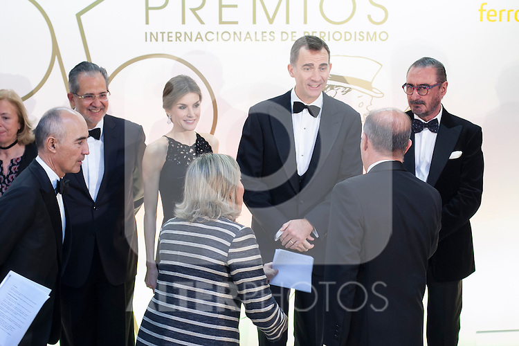Spanish Royals King Felipe VI of Spain and Queen Letizia of Spain attend ABC Awards in Madrid, Spain. December 10, 2015. (ALTERPHOTOS/Victor Blanco)