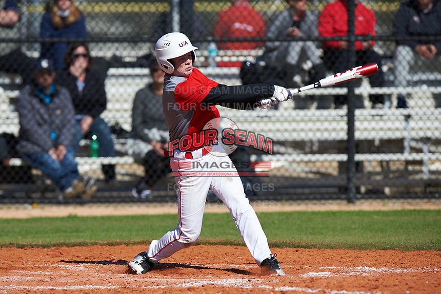 Spencer Margolis (5) of Louisville, Tennessee during the Baseball Factory All-America Pre-Season Rookie Tournament, powered by Under Armour, on January 14, 2018 at Lake Myrtle Sports Complex in Auburndale, Florida.  (Michael Johnson/Four Seam Images)